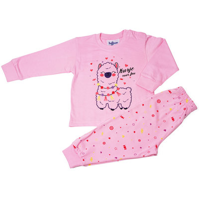 Fun2Wear Alpaca Pyjama Fun2Wear Meisjes Fuchsia