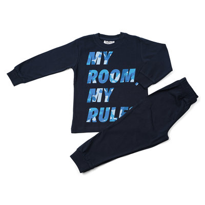 Fun2Wear My Rules Pyjama Fun2Wear Jongens Navy