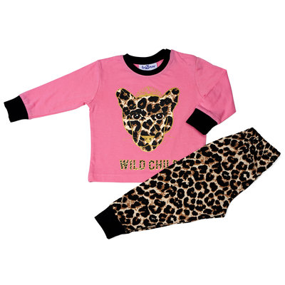 Fun2Wear Wild Child Pyjama Fun2Wear Meisjes Roze