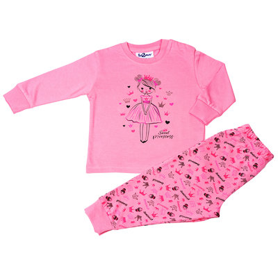 Fun2Wear Sweet Princess Pyjama Fun2Wear Meisjes Roze
