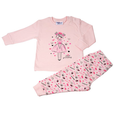 Fun2Wear Sweet Princess Pyjama Fun2Wear Meisjes Licht Roze