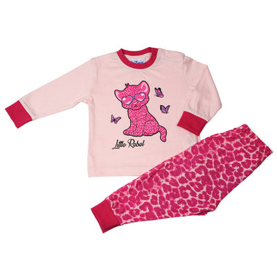 Fun2Wear Little Rebel Pyjama Fun2Wear Meisjes Licht Roze