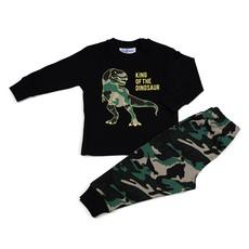 Fun2Wear Dino Pyjama Fun2Wear Jongens Zwart