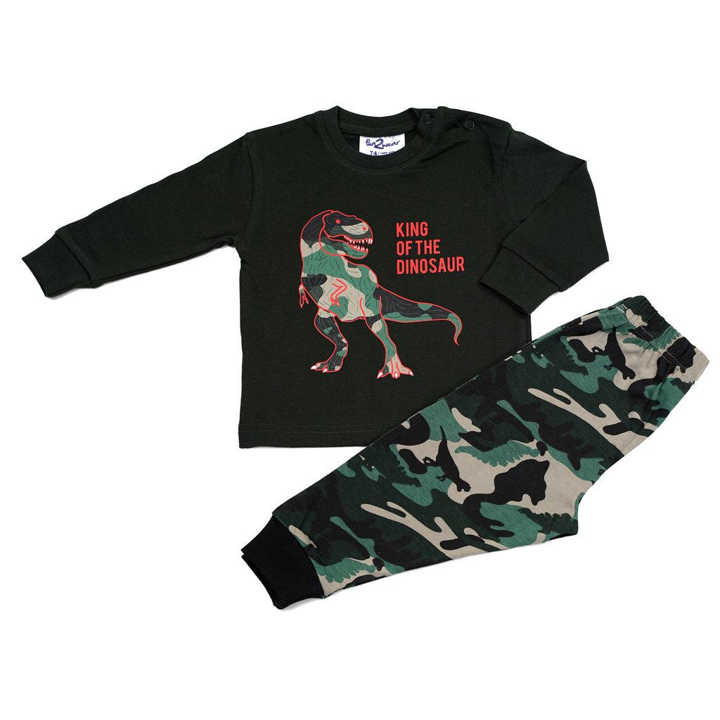 Fun2Wear Dino Pyjama Fun2Wear Jongens Groen
