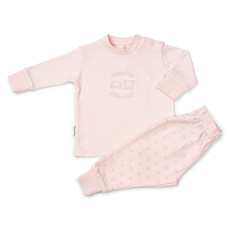 Frogs and Dogs Pyjama roze  geborduurd Frogs and Dogs