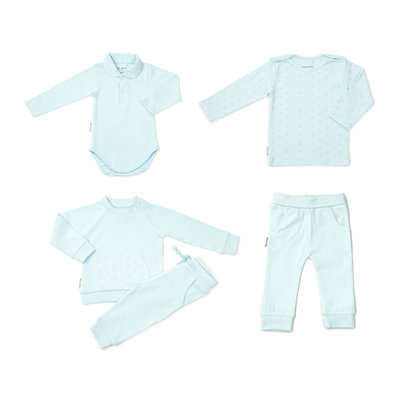 Frogs and Dogs Newborn pakket kleding jongens pastelblauw
