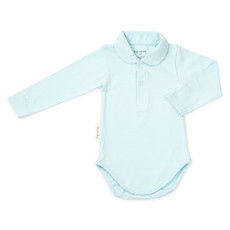 Frogs and Dogs Polo romper newborn blauw Frogs and Dogs