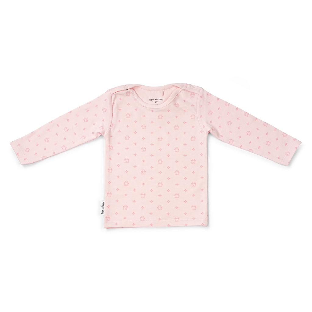 Frogs and Dogs Shirt NOS Roze