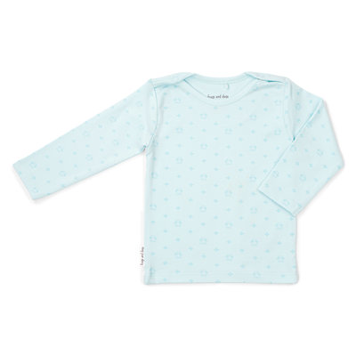 Frogs and Dogs Shirt newborn blauw Frogs and Dogs