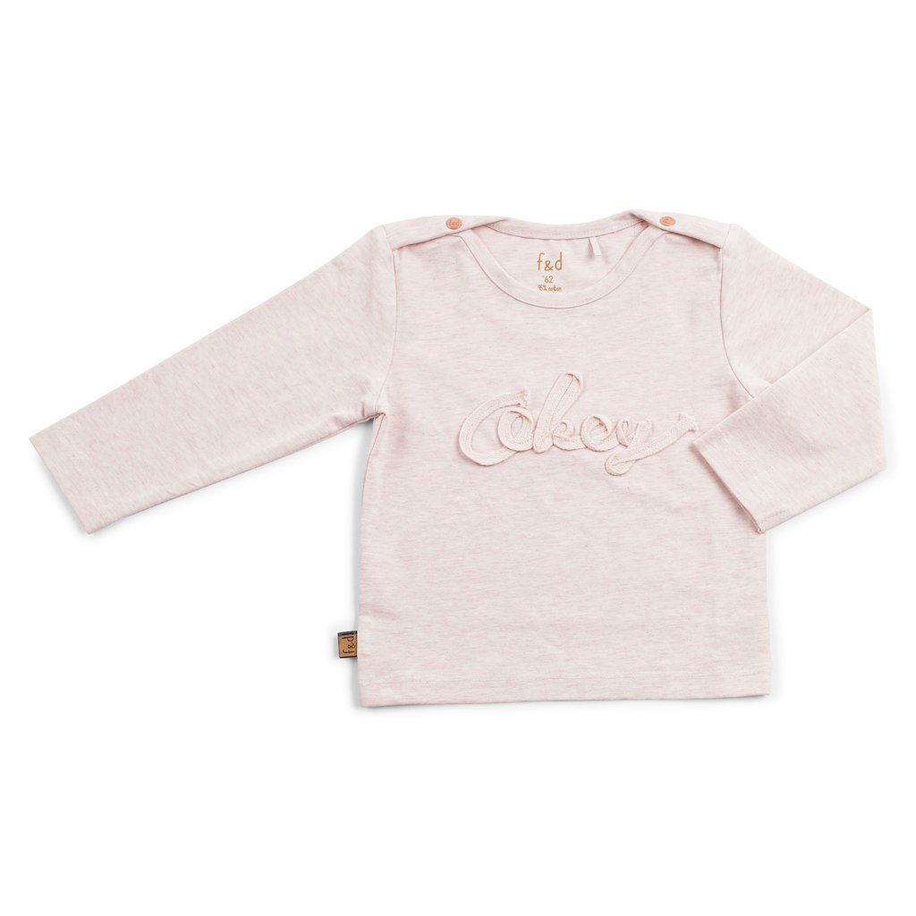 Frogs and Dogs Shirt Okey Roze Baby