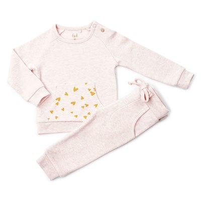 Frogs and Dogs Joggingpak Hearts Roze