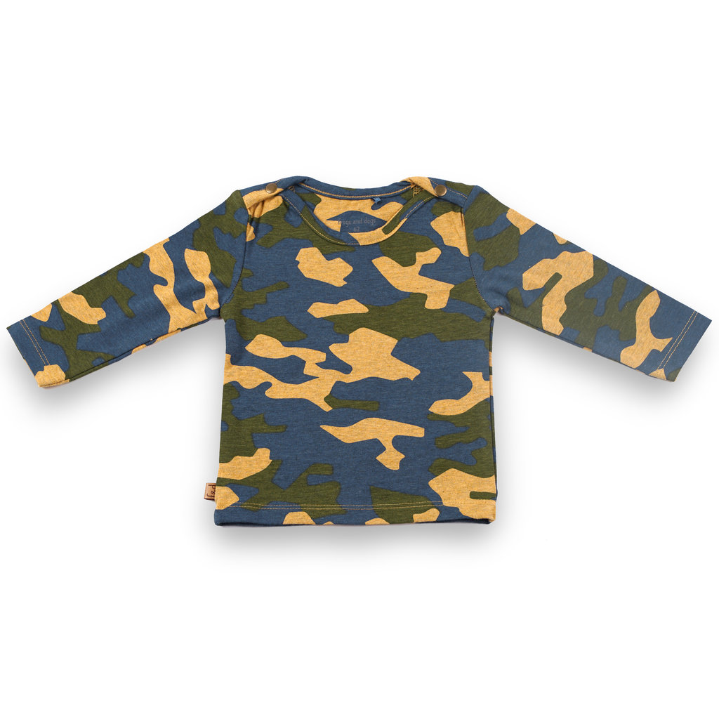 Frogs and Dogs Shirt Camo Camouflage Mini