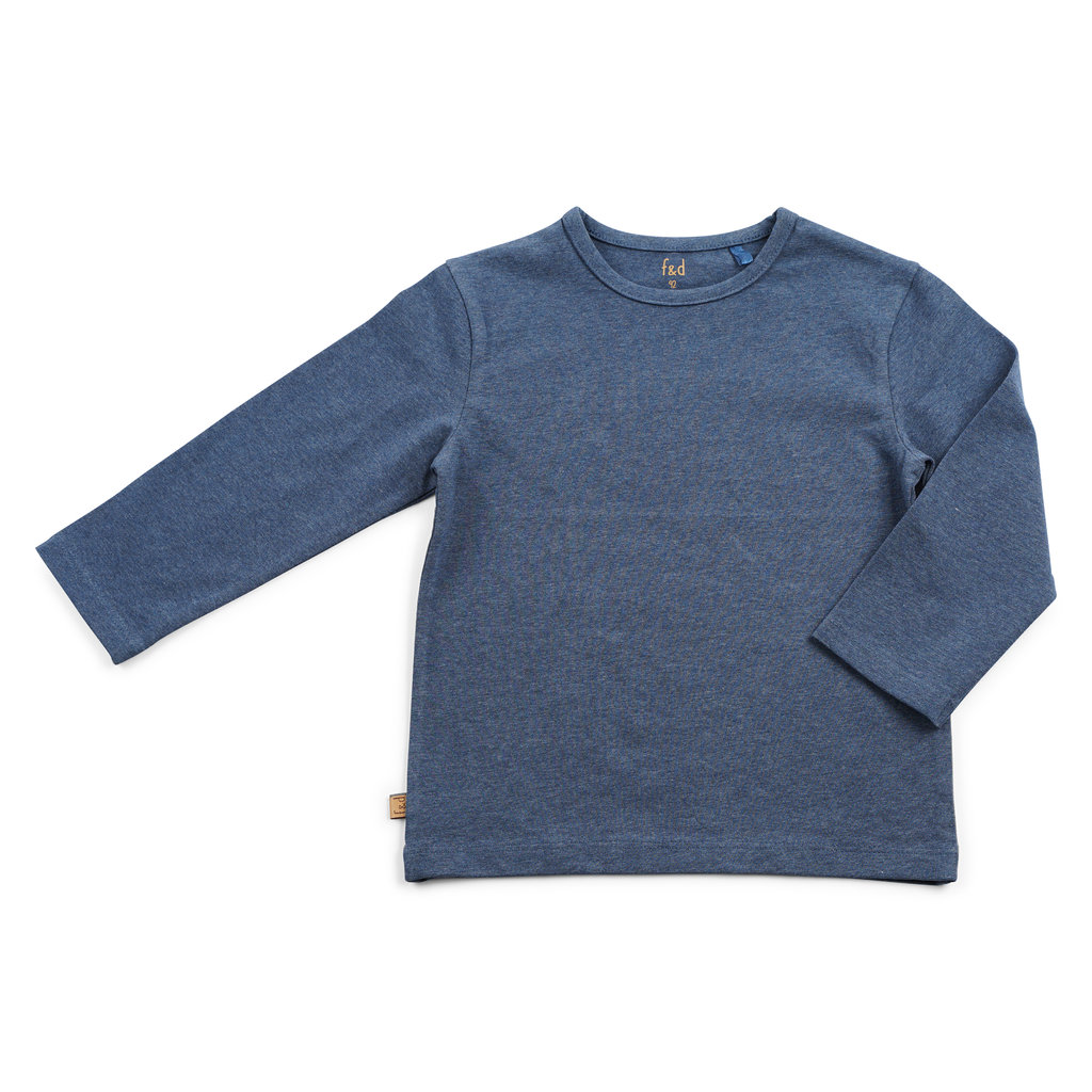 Frogs and Dogs Shirt Effen Navy Mini