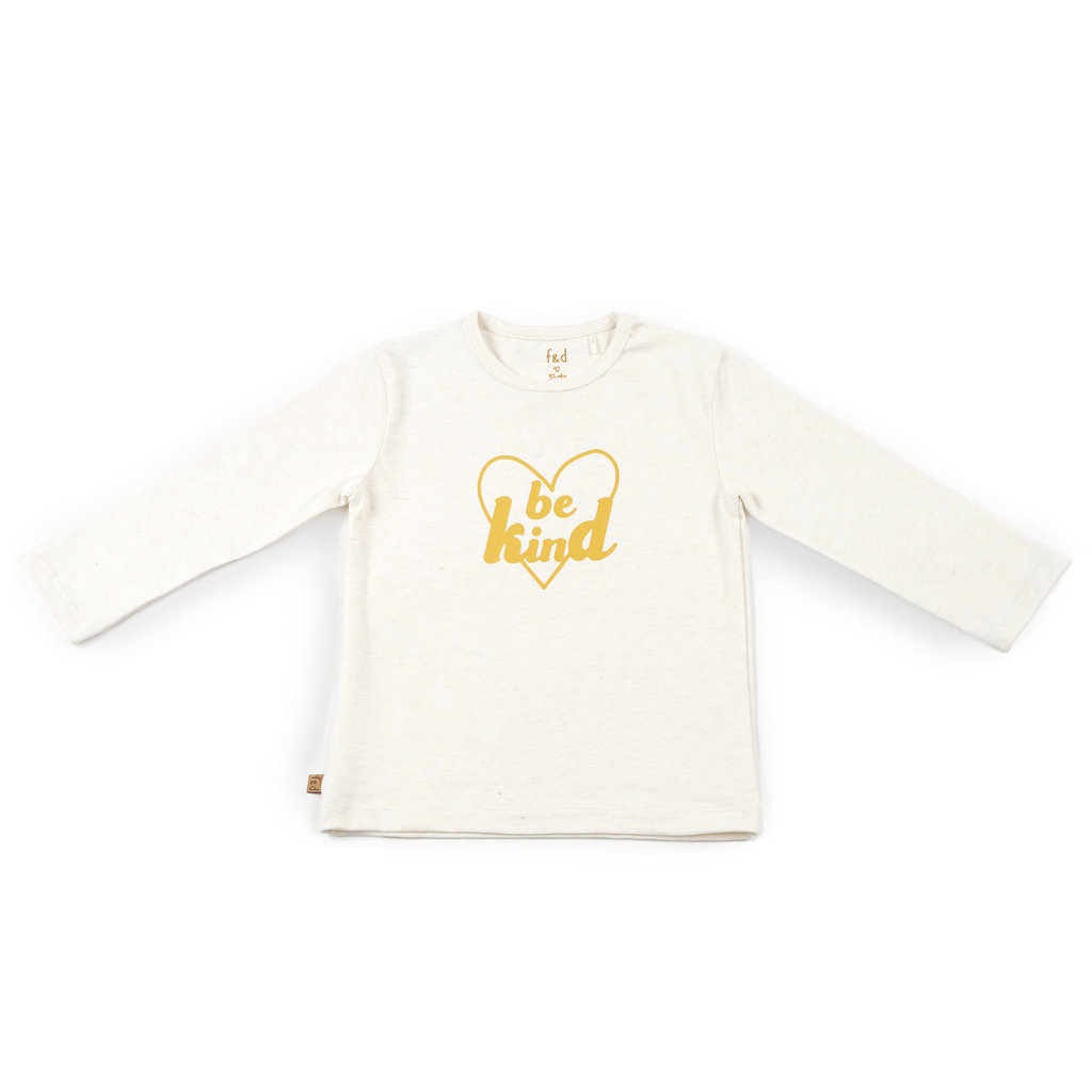 Frogs and Dogs Shirt Be Kind Hearts Offwhite Baby