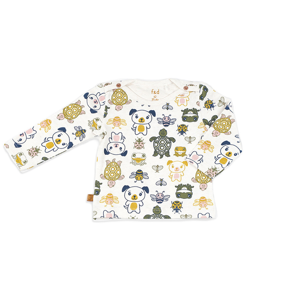 Frogs and Dogs Shirt Friends Offwhite Baby