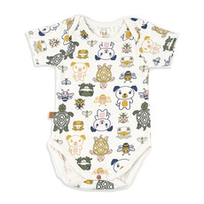 Frogs and Dogs Romper Friends Offwhite Baby