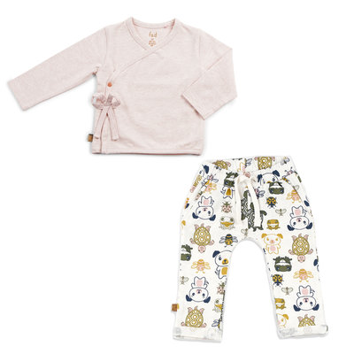 Frogs and Dogs Wrap Shirt Kledingset Meisjes