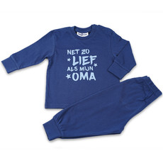 Fun2Wear Pyjama Lief Als Oma Navy