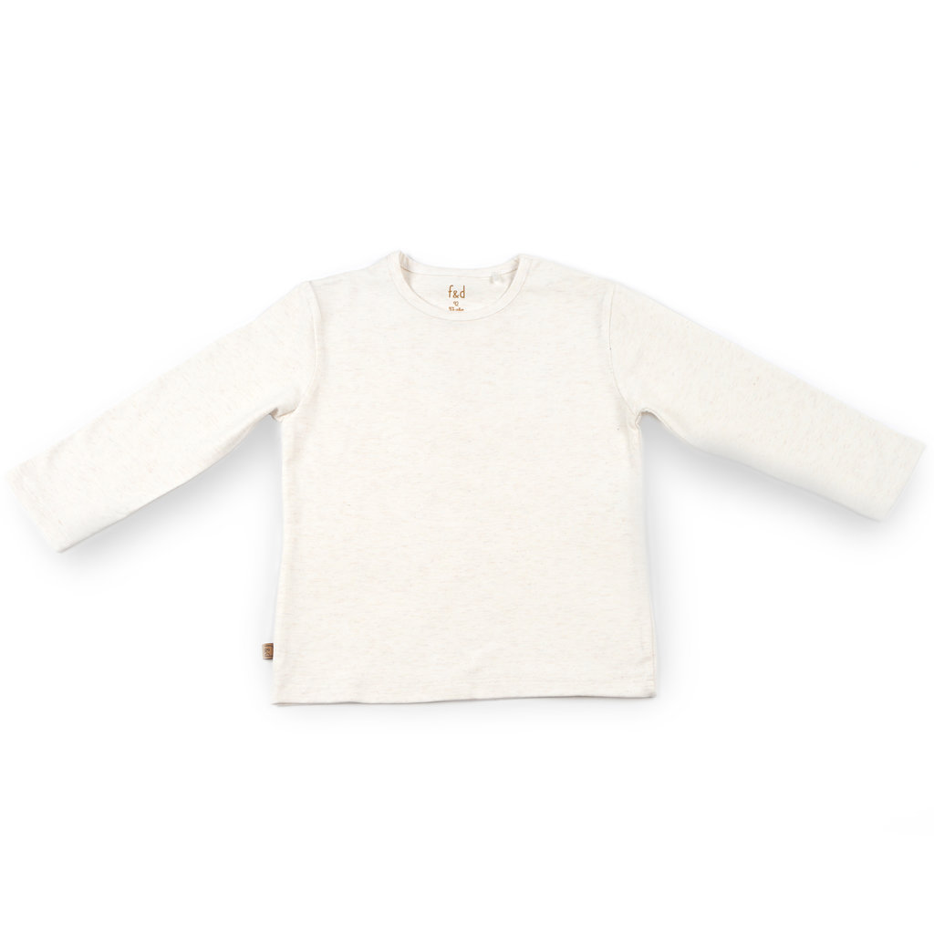 Frogs and Dogs Shirt Effen Offwhite Baby