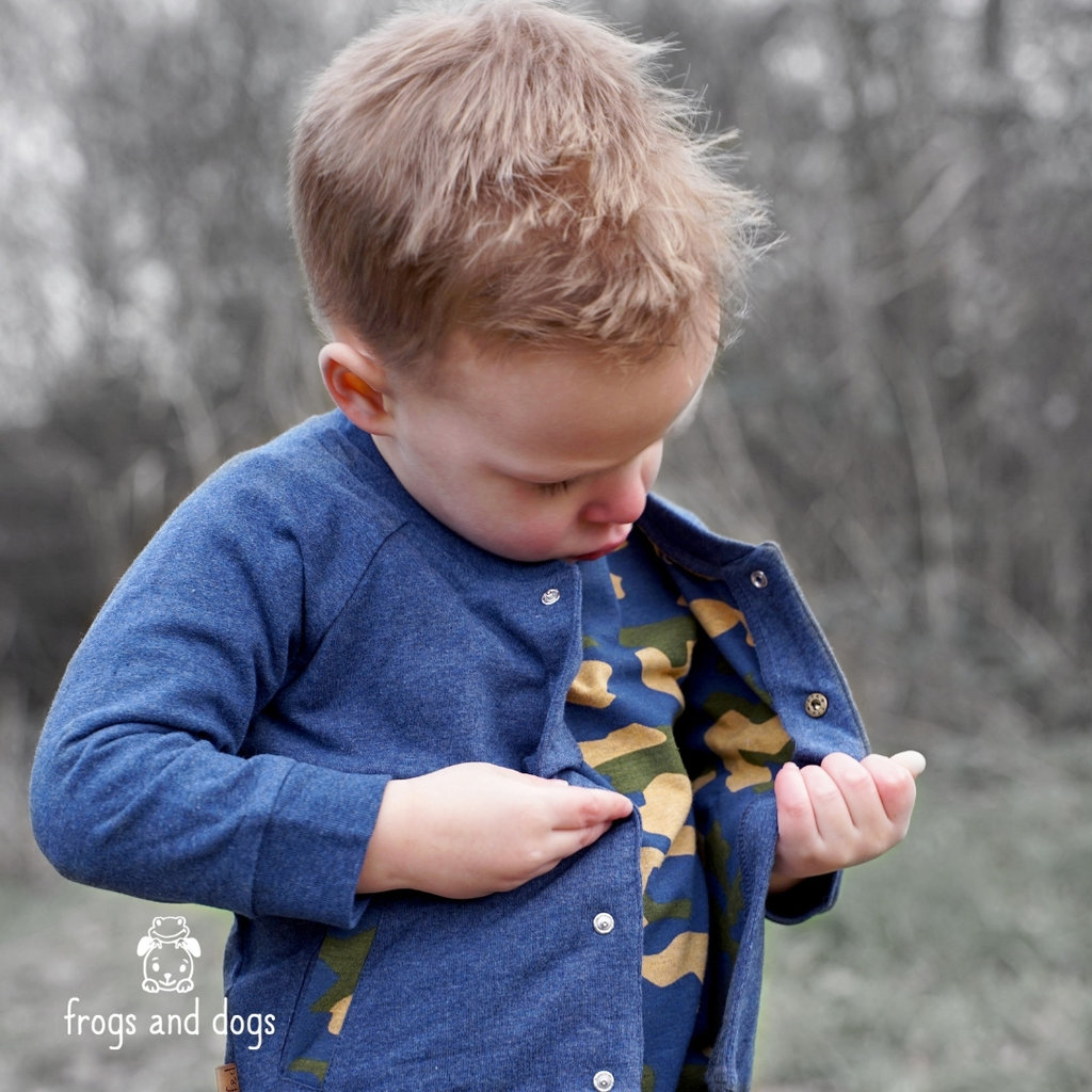 Frogs and Dogs Vestje Camo Navy Baby