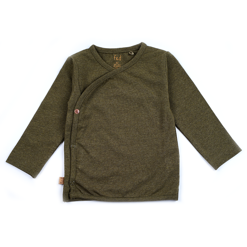Frogs and Dogs Omslagshirt Effen Khaki
