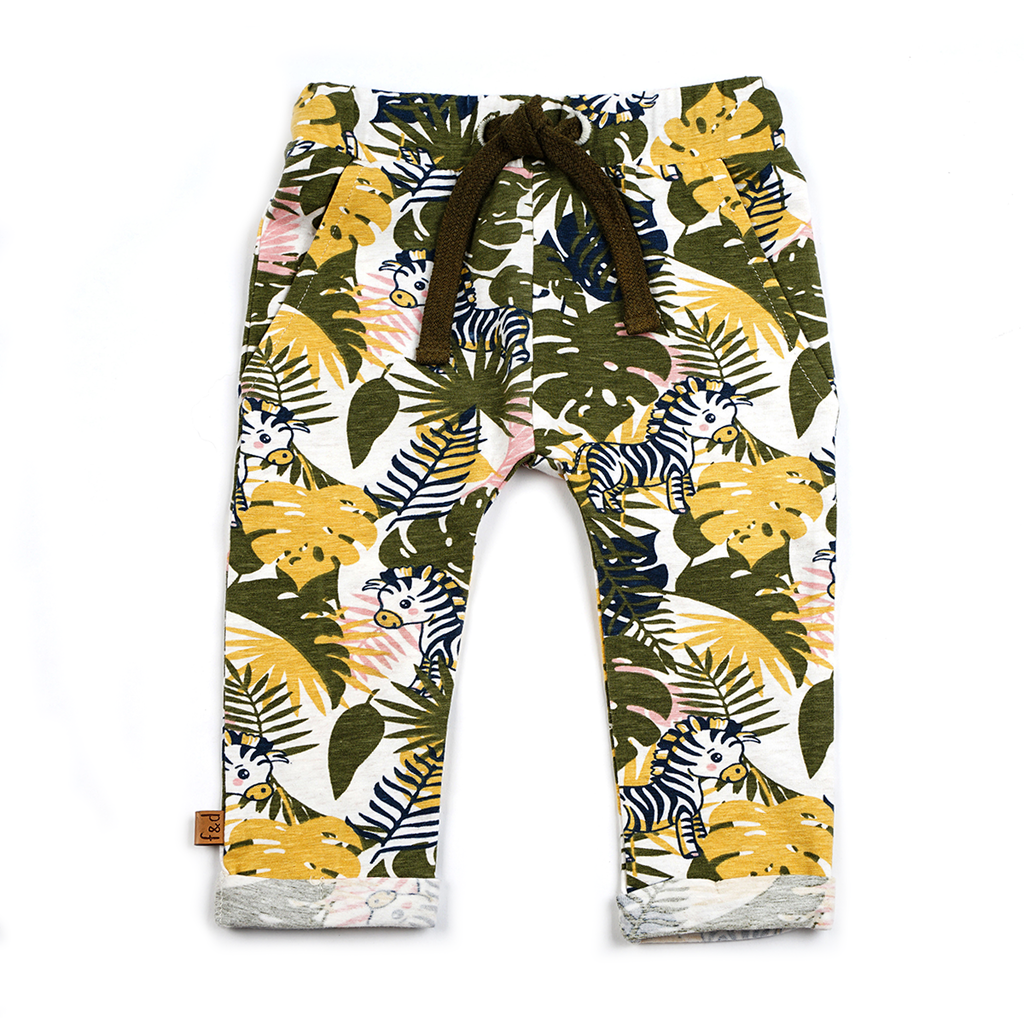 Frogs and Dogs Broekje Zebra/Jungle All-over