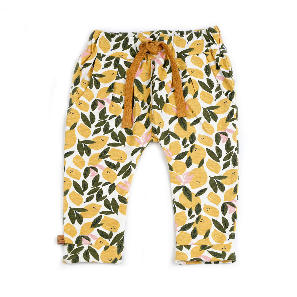 Frogs and Dogs Broekje Lemon All-over