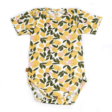 Frogs and Dogs Romper Lemon All-over