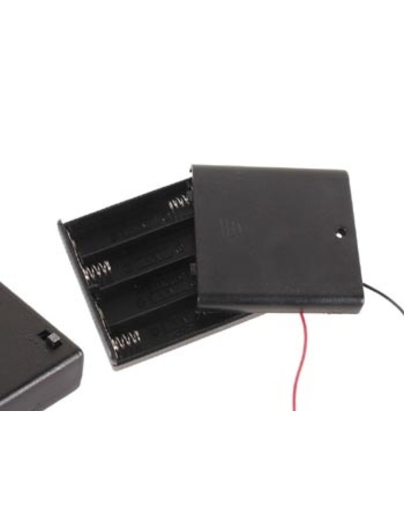 Battery Holder for 4x AA Closed Box