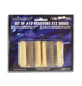 Velleman Velleman Set of 610 Resistors E12 Series K/RES-E12