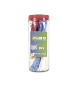 Set Cable Ties 300 pcs Perel ECTM300