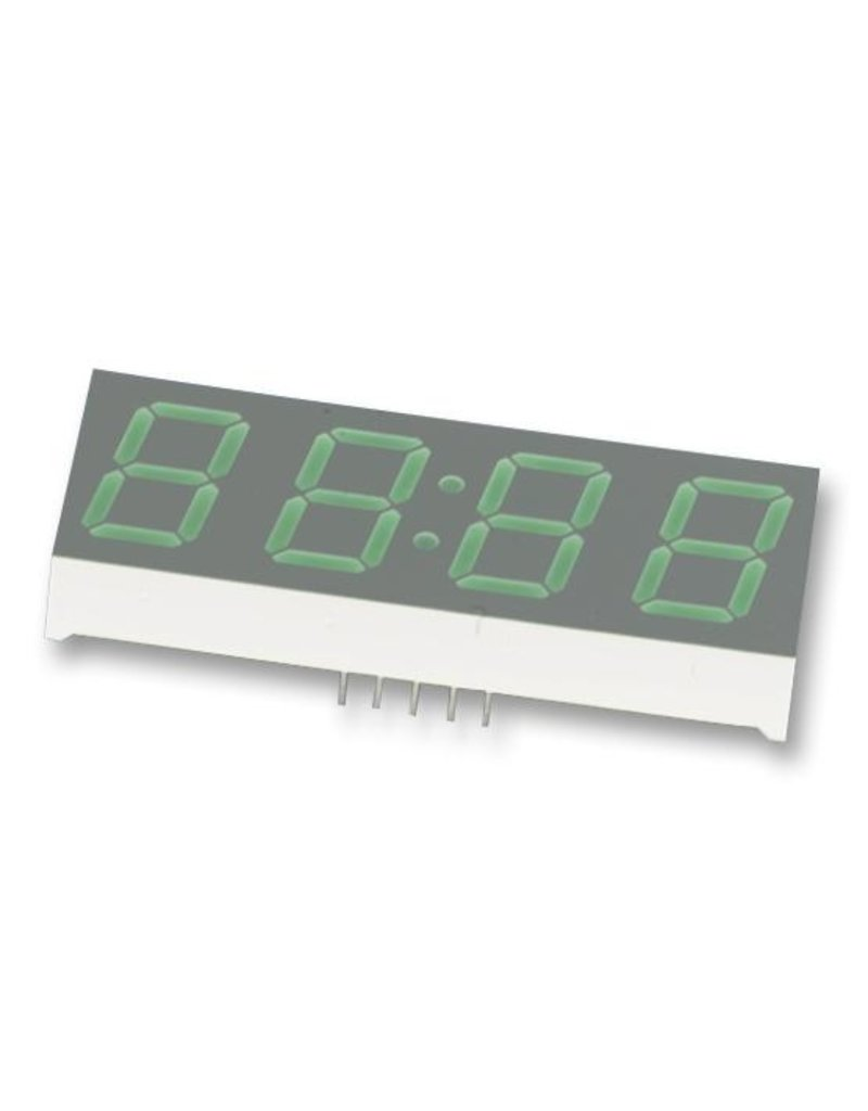7-Segment LED display 4 digits, 14,22mm Red, Common Cathode