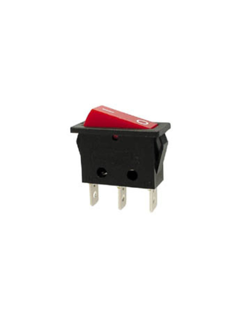 Power Rocker Switch 10A-250V SPST With Red Neon Light