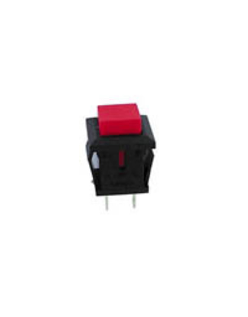 Push-button switch OFF-(ON) Black