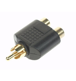 Splitter RCA Male to 2x RCA Female High-Q ABV060