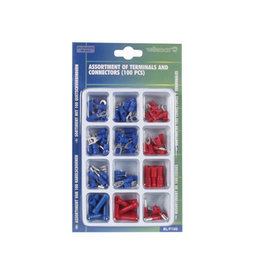 Assortment of Terminals and Connectors (100 Pcs) BL/F100