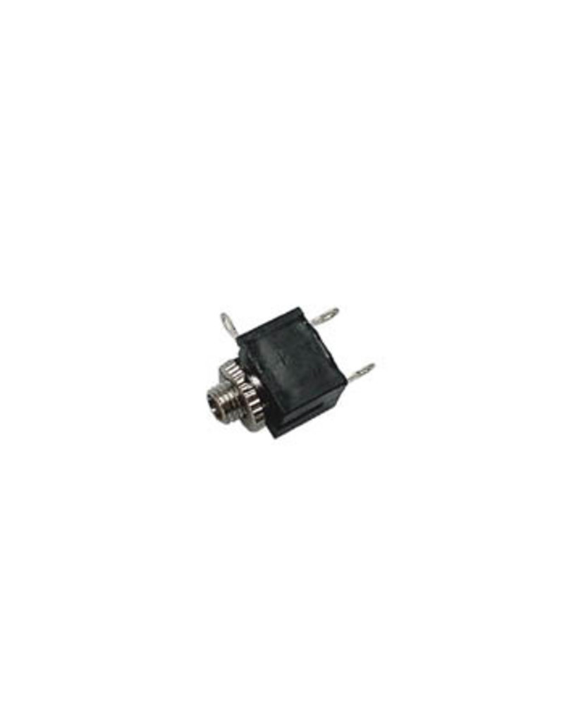 2,5mm Female Jack connector Chassis Black Mono