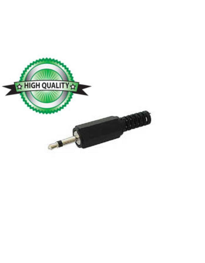Velleman 2,5mm Male Jack Connector Black plastic Mono CA001