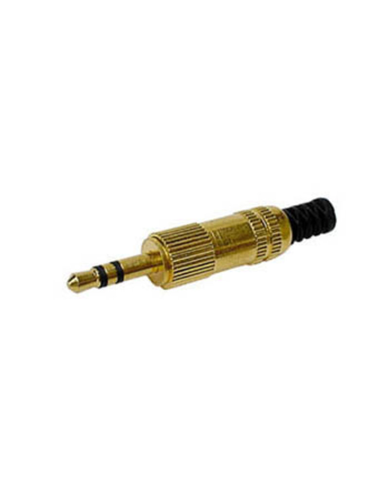 3,5mm Male Jack Connector Metal Gold-plated Stereo CA006