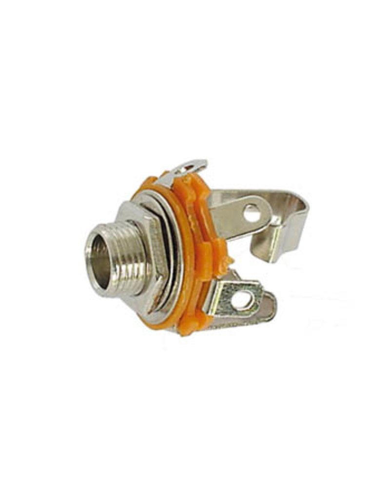 6,35mm Jack Socket Open Circuit Chassis 2-Pole