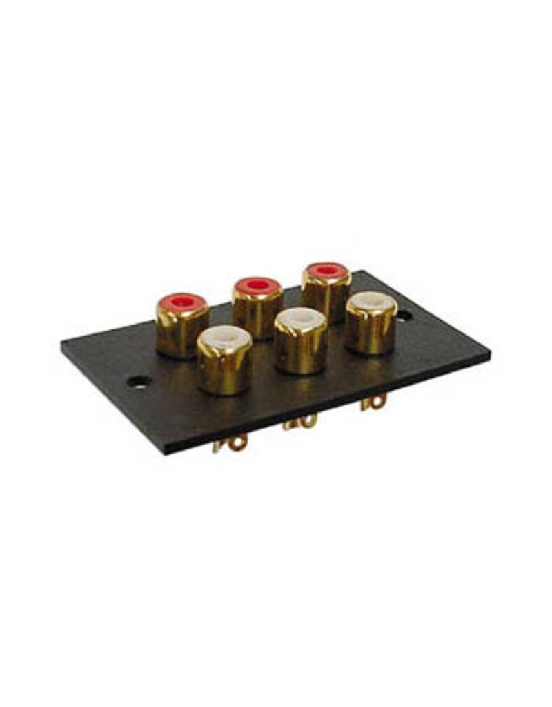 Velleman Velleman 6x RCA Socket Rectangular CA073