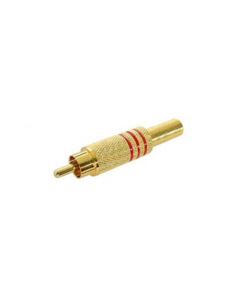 Velleman Velleman RCA Plug Free Red Gold CA048R