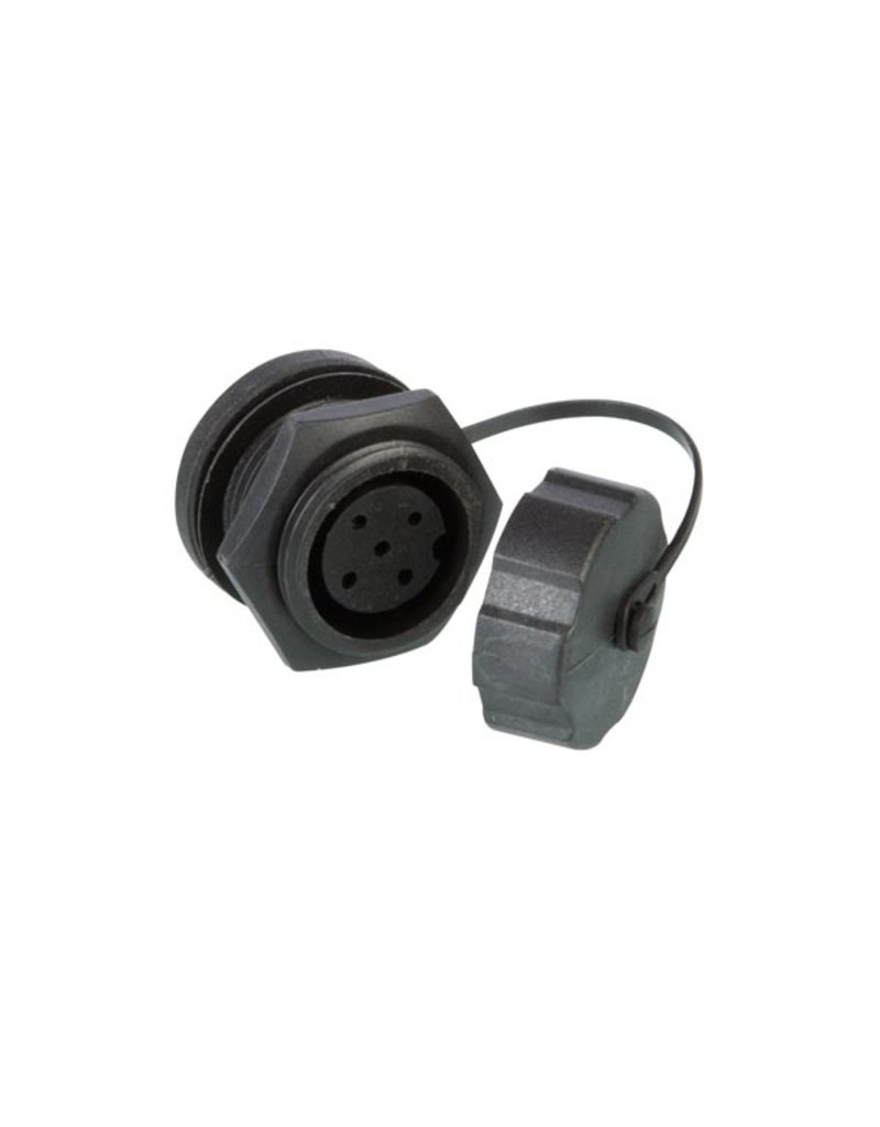 Waterproof Female connector - Chassis - 5 pins