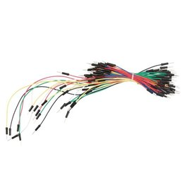 Velleman Breadboard Assorted Jumper Wires - 65pcs - One pin Male to Male