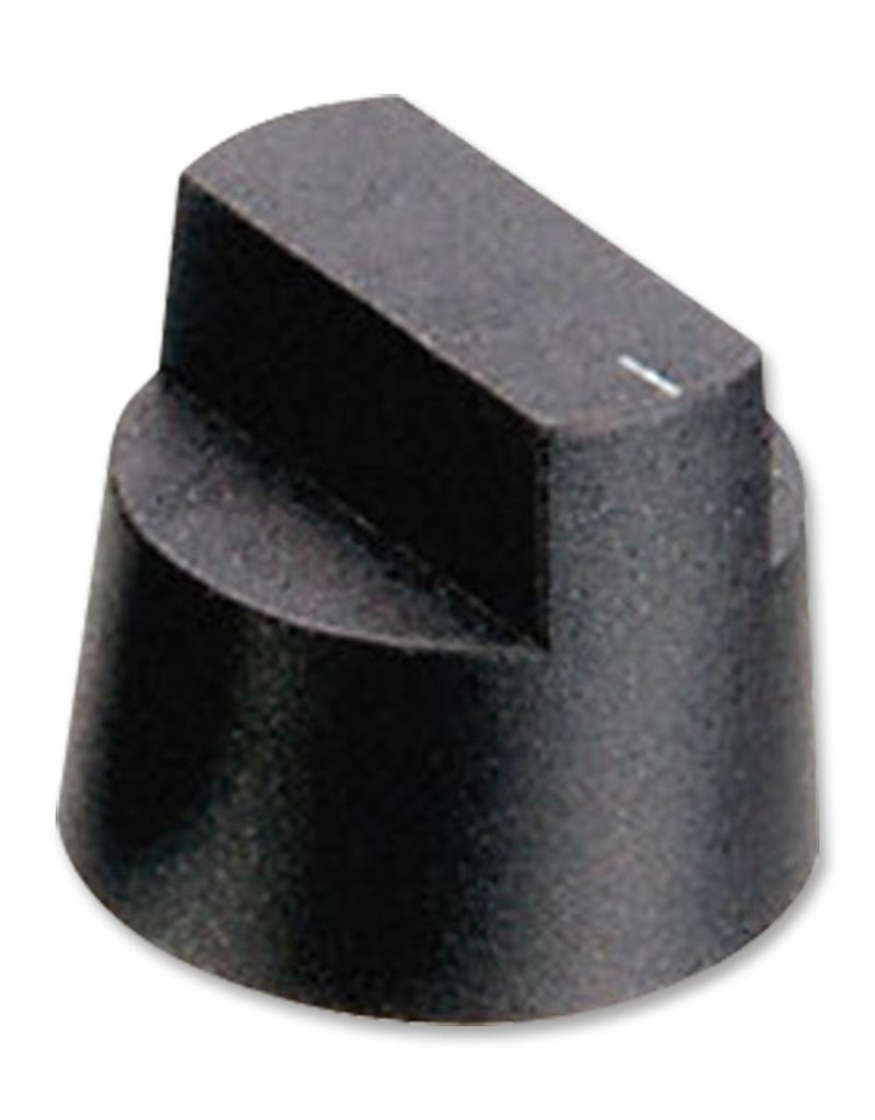 Knob KX0606 Black 16,5 mm Bulgin