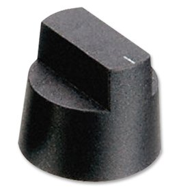 Knob KX0608 Black 28,1mm Bulgin