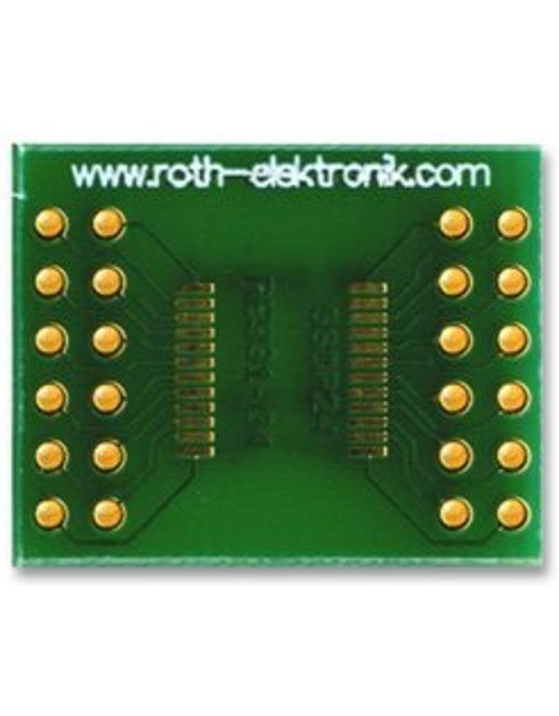 SSOP to DIL adapter 24 Way 0,65mm Roth Elektronik