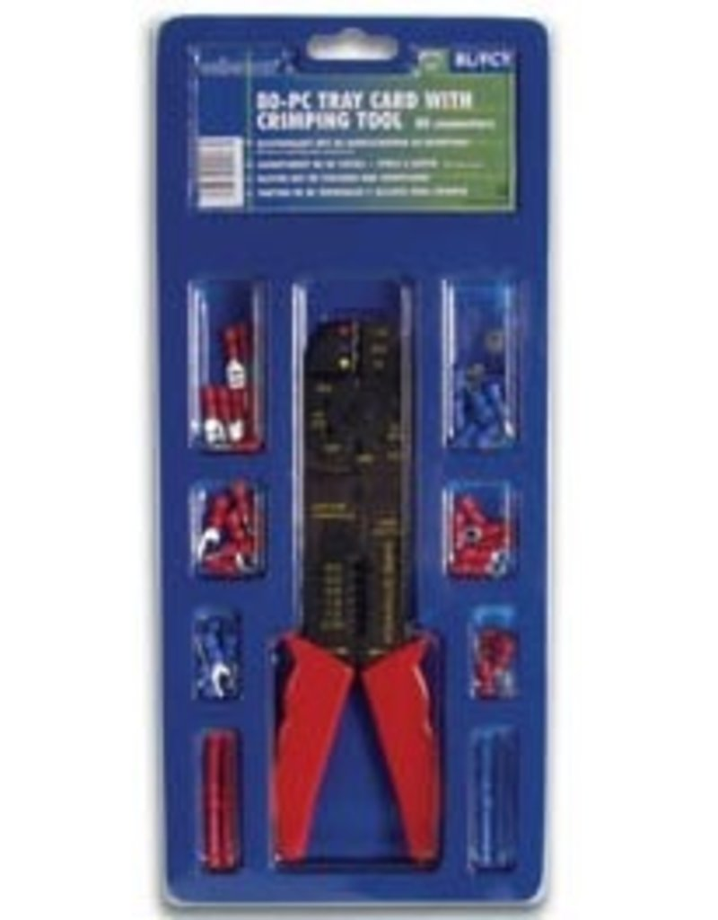 80 Pcs Connectors and  Crimping Tool BL/FCT