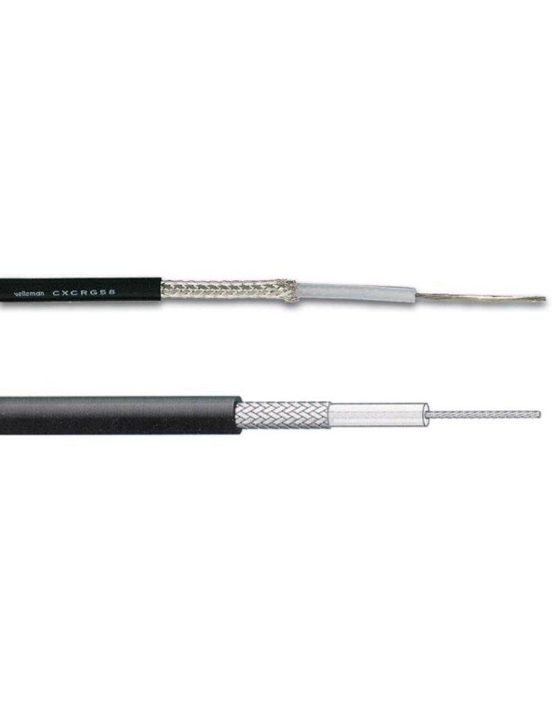 Coax cable RG-58 Mil spec 50 Ohm Black