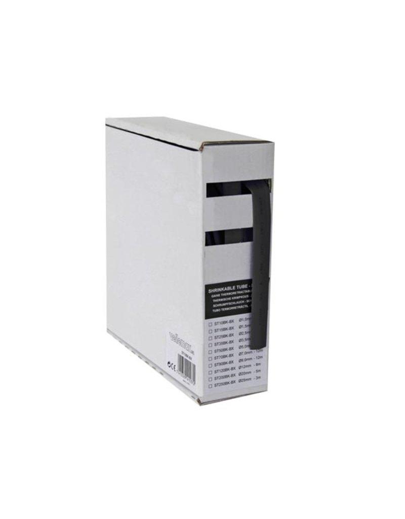 Heat-Shirnkable Tube 2 to 1 - 5,0mm - Black - 12m Box